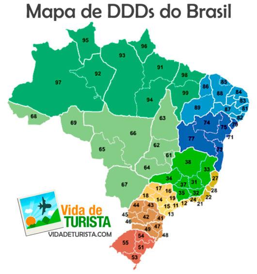 Mapa de DDDs do Brasil
